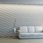 3D панели «Волна диагональная крупная»
