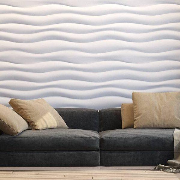 3D панели «Волна горизонтальная крупный рельеф»