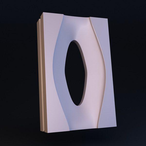 Гипсовый 3D блок для перегородок