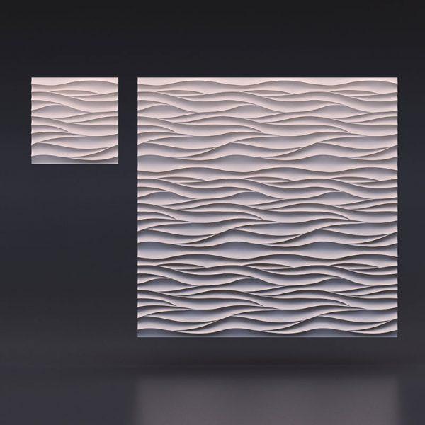 3D панели Острые волны