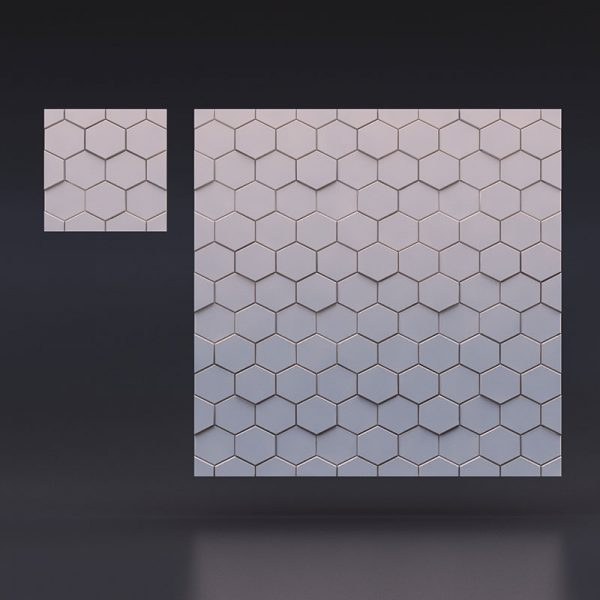 3D панели «Шестигранник»