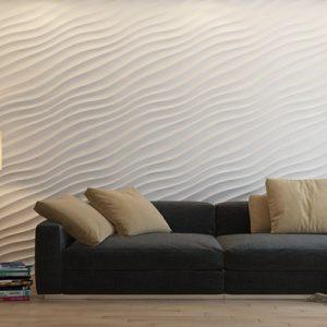 3D панели «Волна диагональная мелкая»